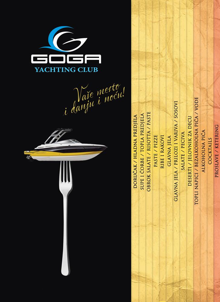 Kilmulis design - Goga Yachting Club - menu 03
