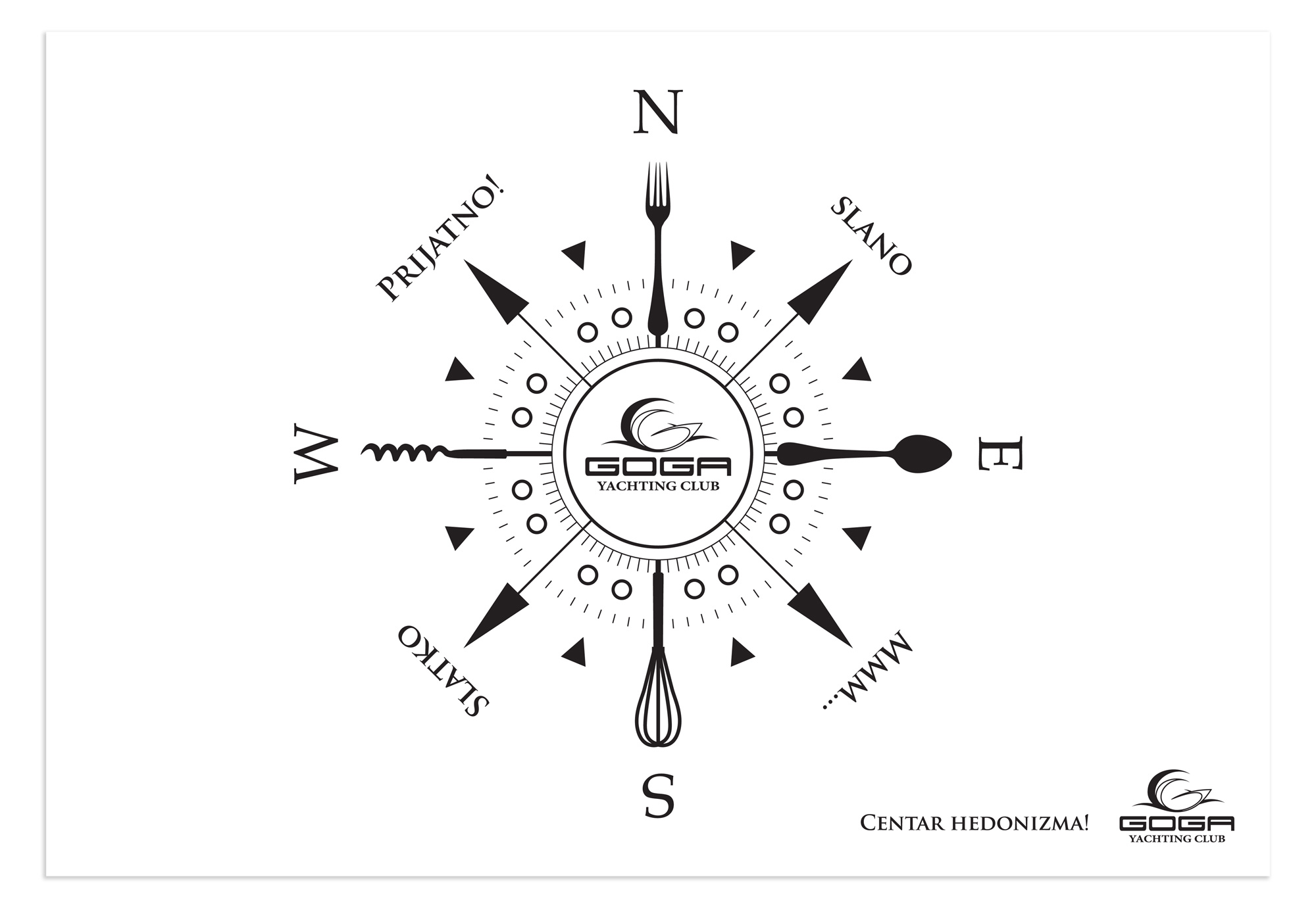 Kilmulis design - Goga Yachting Club - menu 04