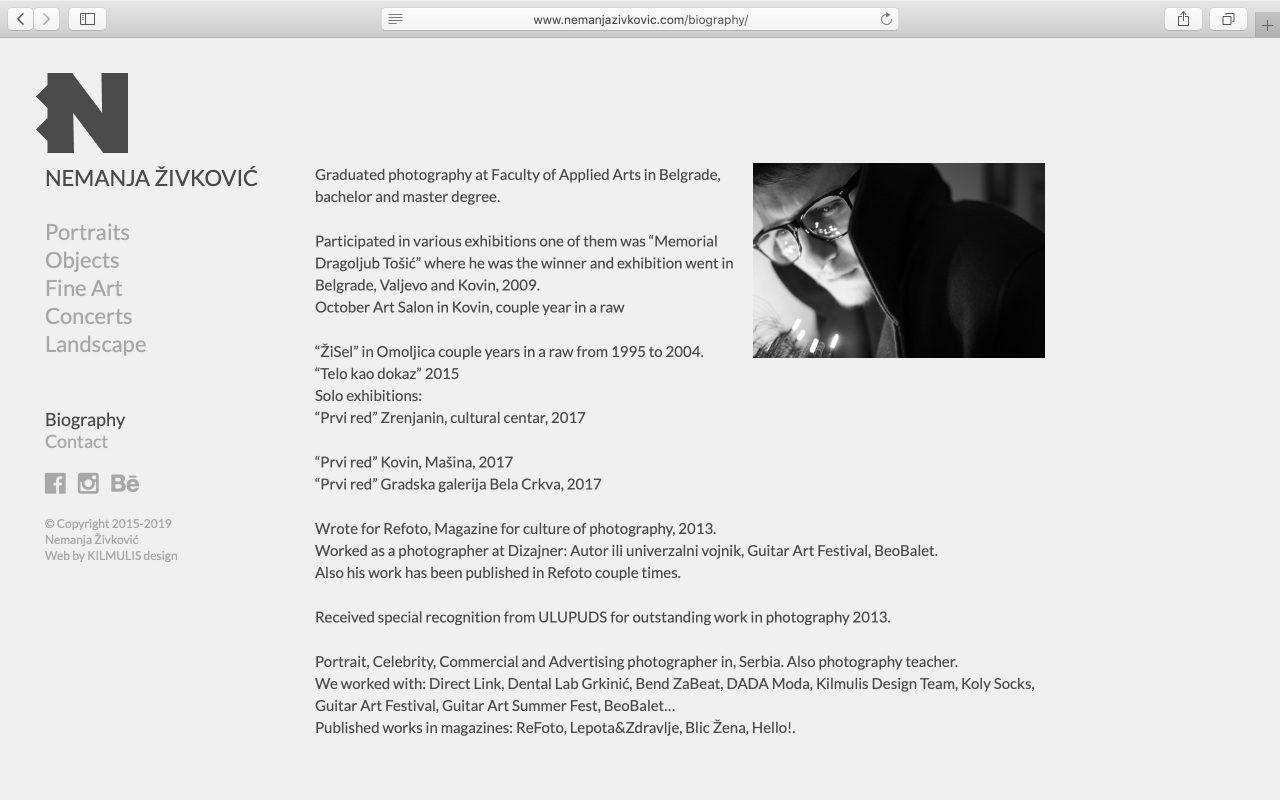 Kilmulis design - Nemanja Zivkovic - website 05