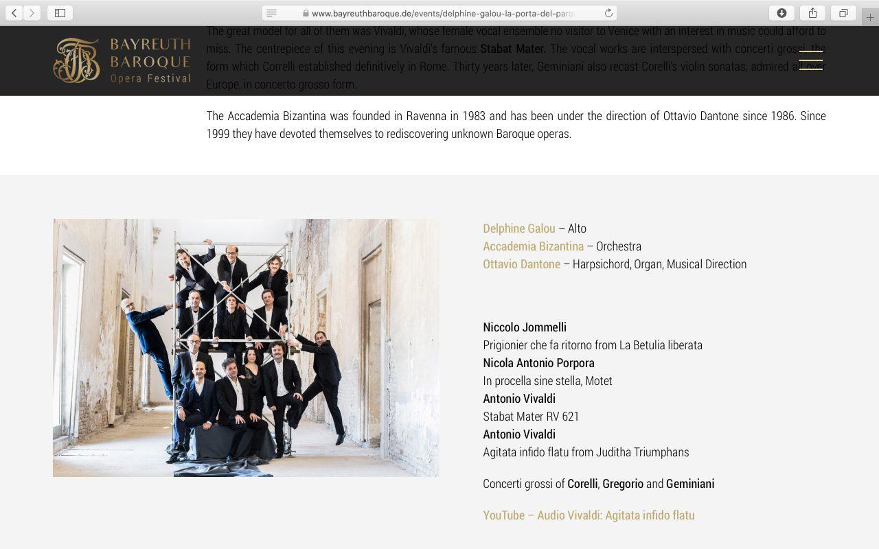 Kilmulis design - Bayreuth Baroque Opera Festival - website 06.1