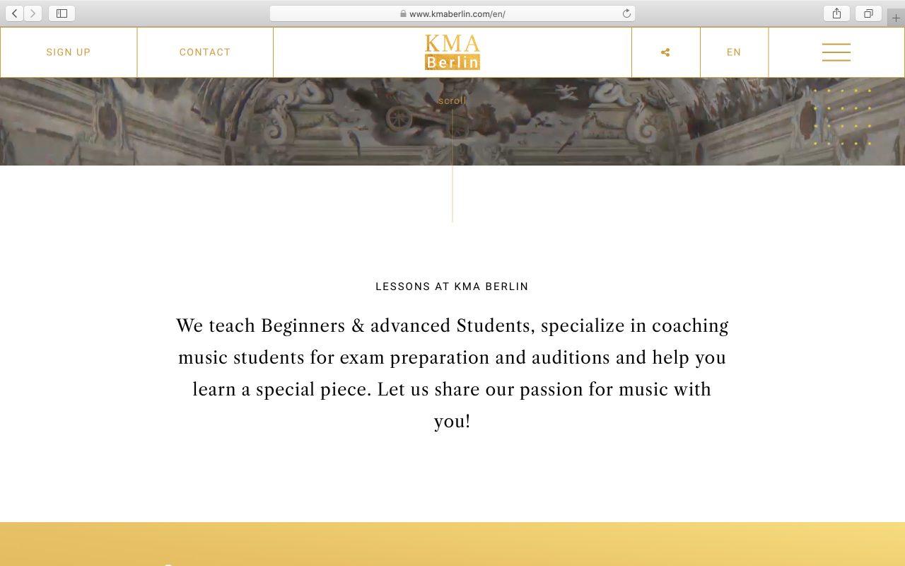 Kilmulis design KMA Berlin website 02