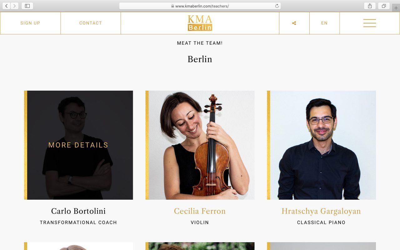 Kilmulis design KMA Berlin website 11