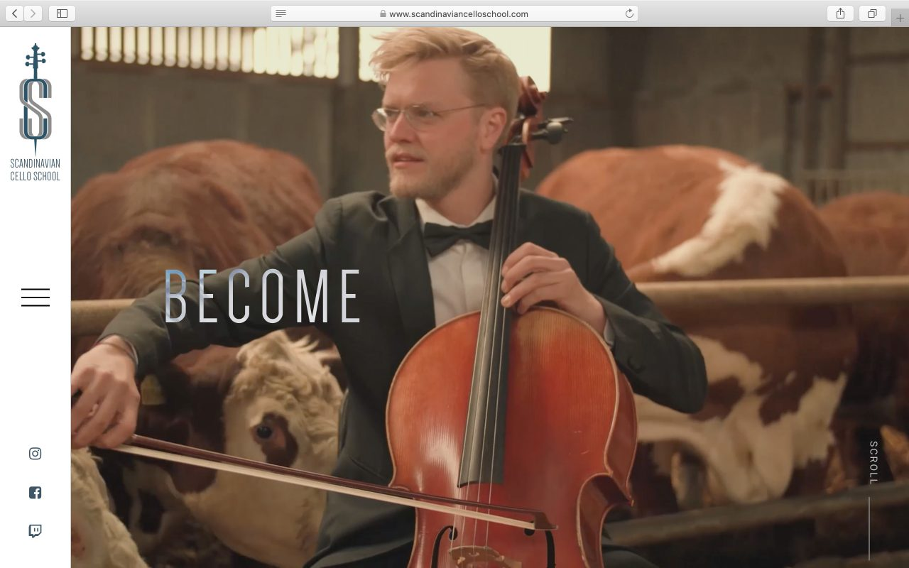 Kilmulis design Scandinavian Cello School website 01