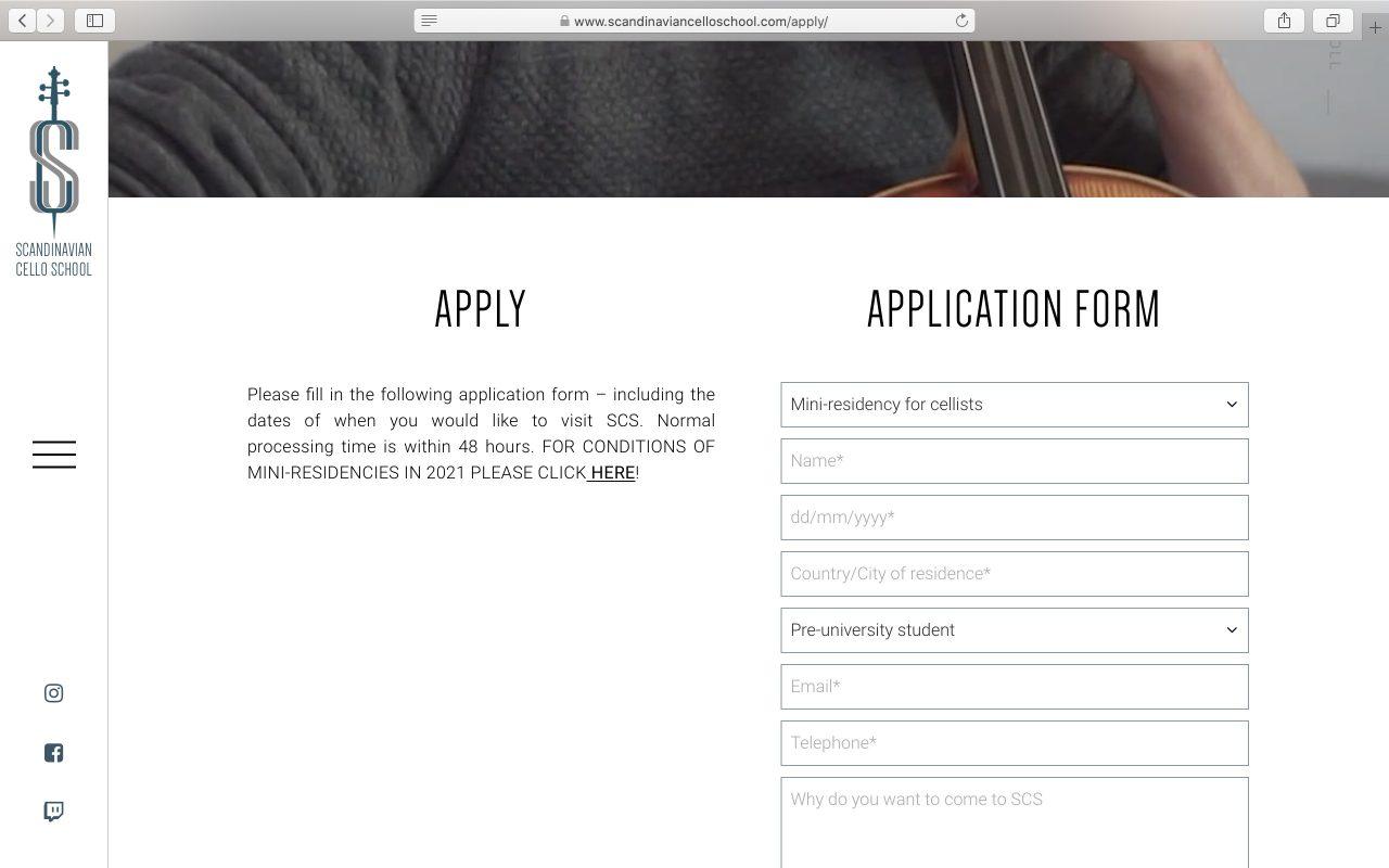 Kilmulis design Scandinavian Cello School website 08