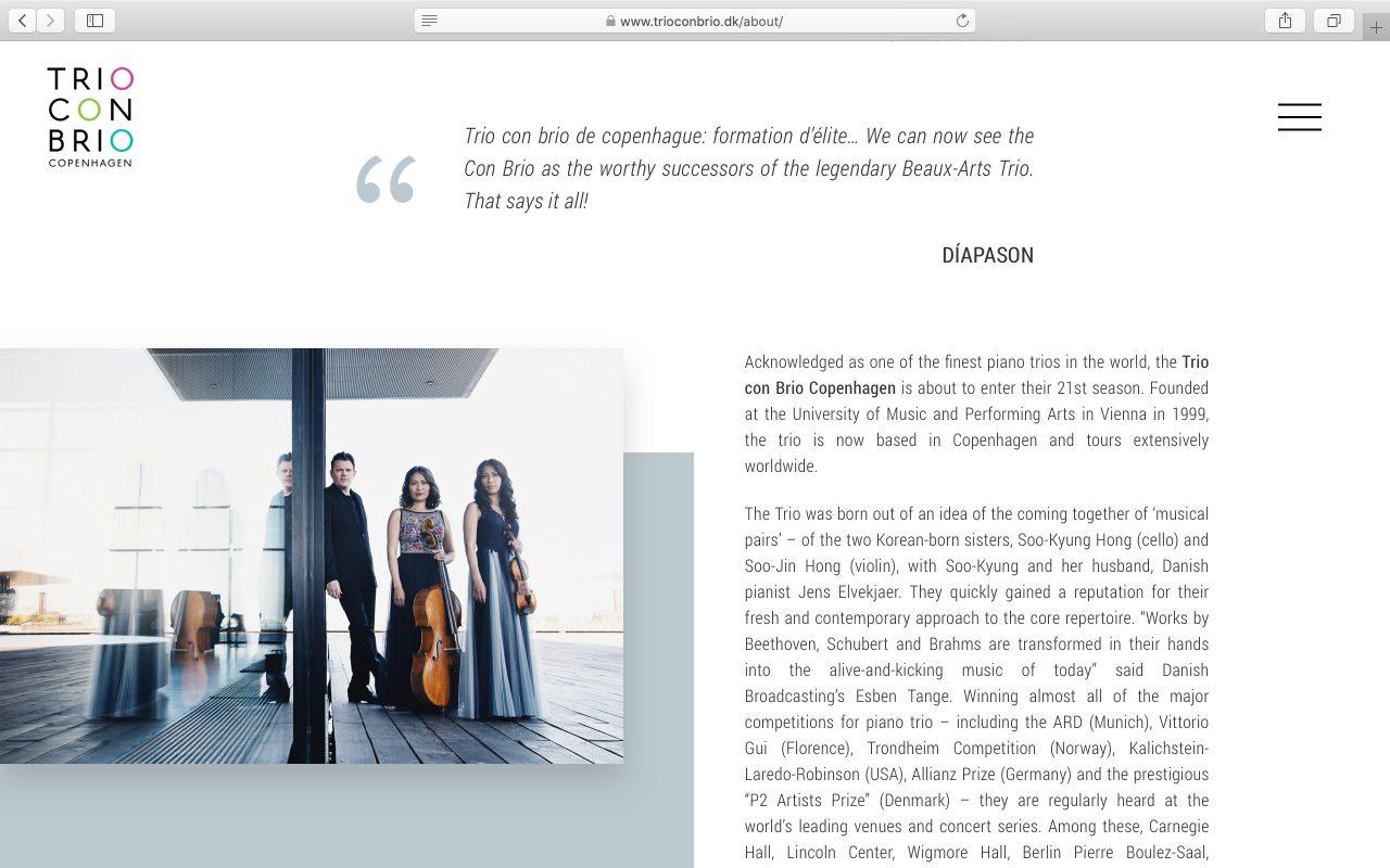 Kilmulis design Trio Con Brio Copenhagen website 02